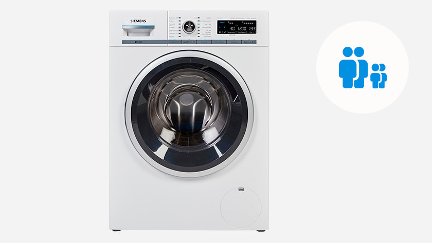 Washing machine for a family with 1 or 2 children