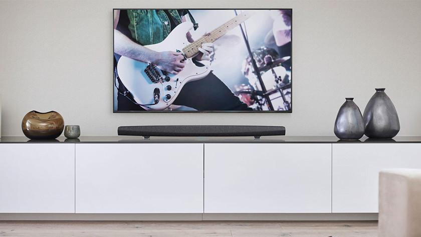 HEOS soundbar in living room