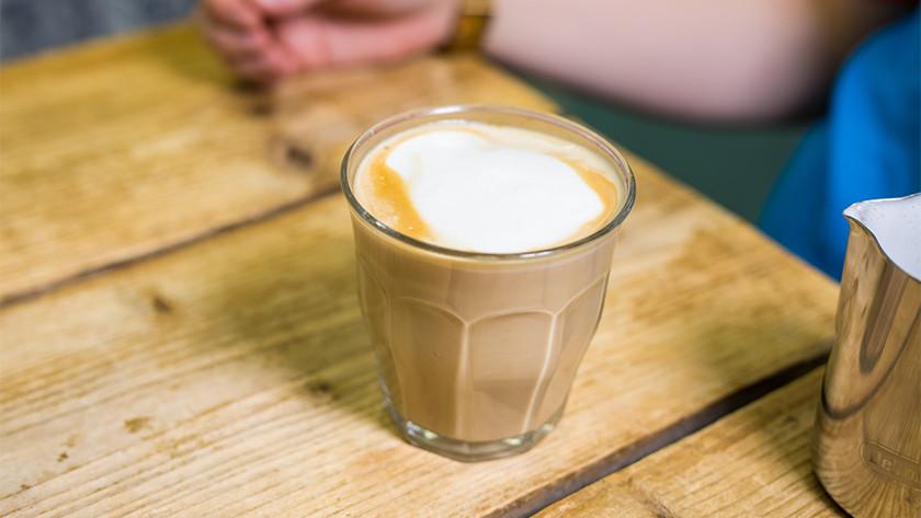 Cappuccino in glass