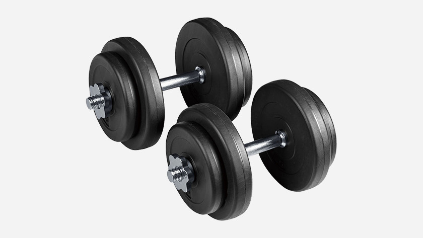 Train dumbbell's chest muscles