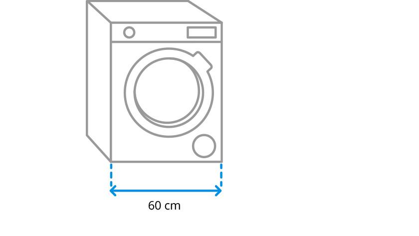 Washing machine width