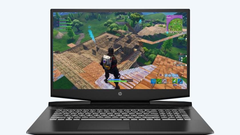 HP laptop met Fortnite.