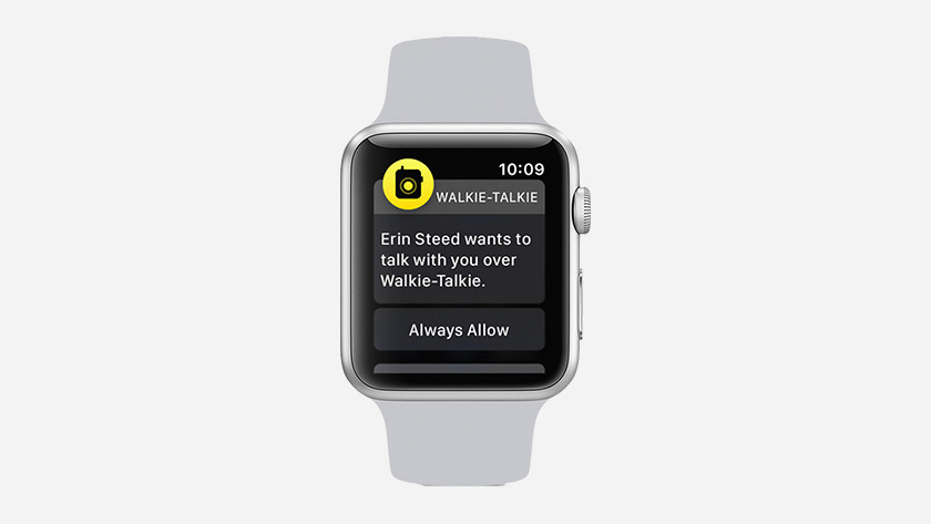 Accept invitation in the Walkie-Talkie app