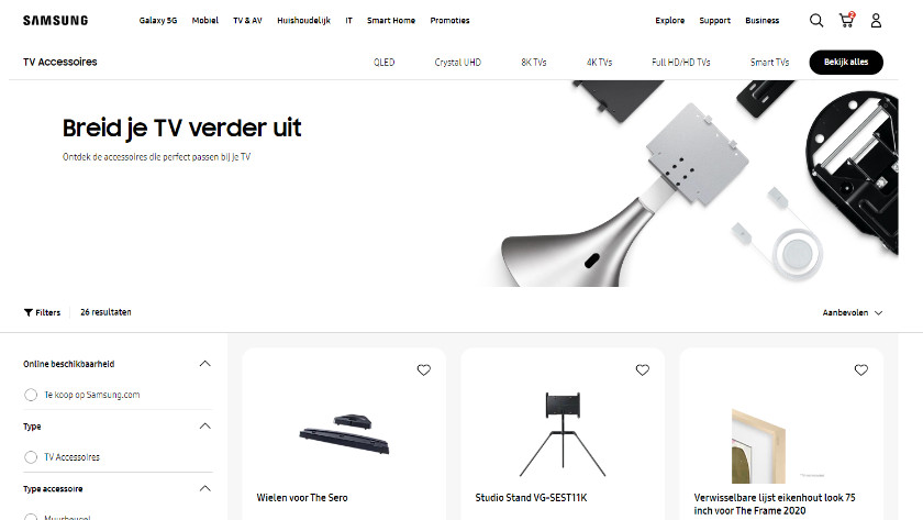 The Samsung accessory webshop