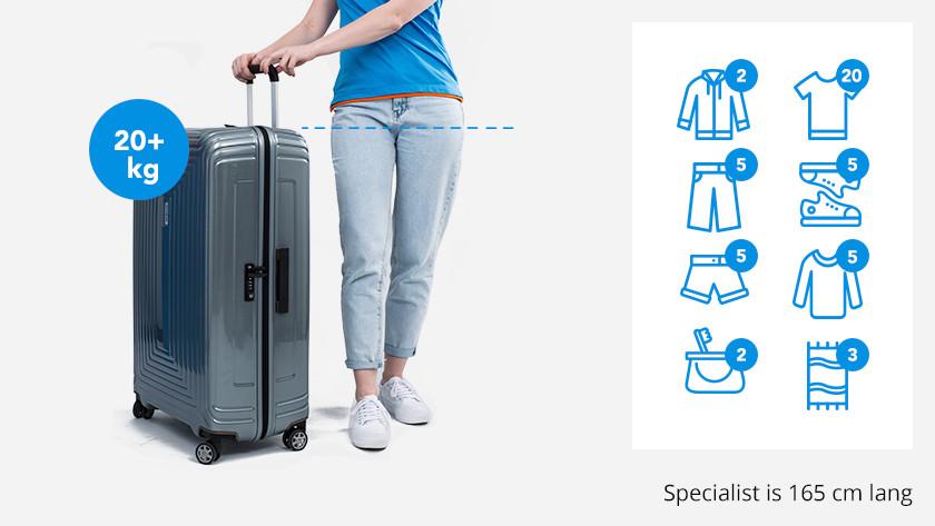 Luggage trips over 3 weeks