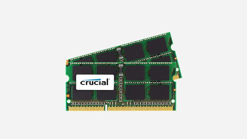 Crucial RAM werkgeheugen.