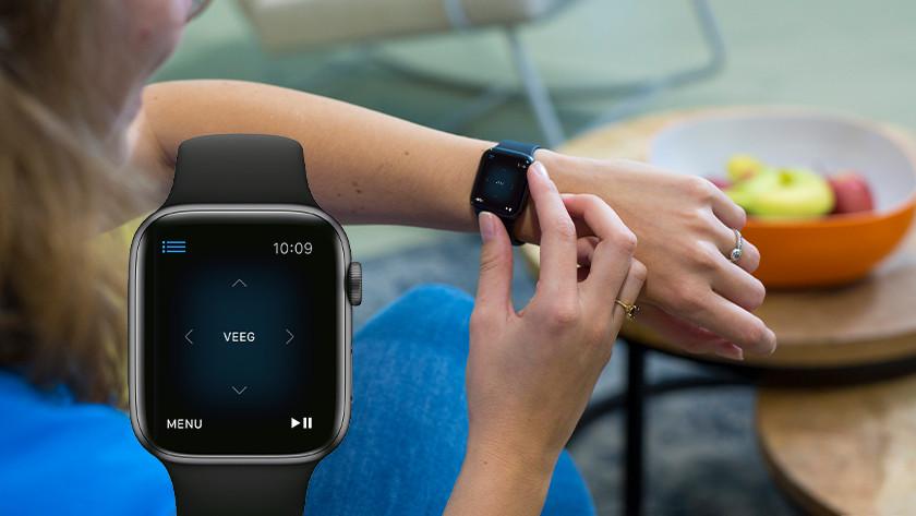 Bedienen met Apple Watch