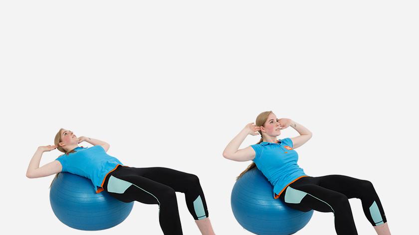 Uitleg basic crunch fitnessbal
