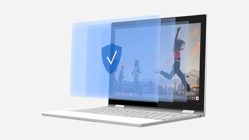 Chromebook die up-to-date is en bestand is tegen virussen.