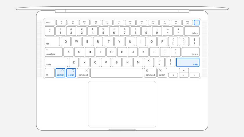 Apple MacBook met T2 chip resetten