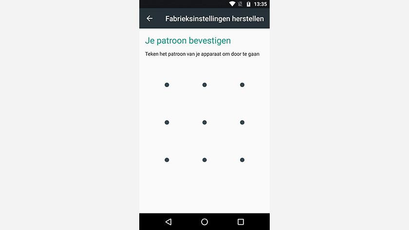 Motorola reset wachtwoord