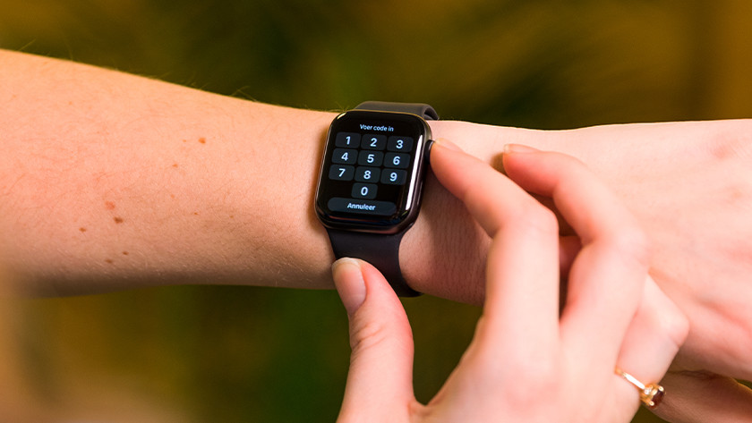 Enter your Apple Watch password, if you have one set