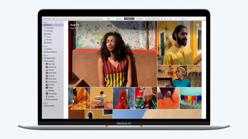 Foto's app op MacBook