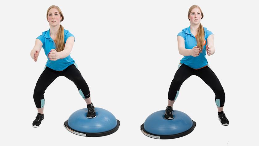 Bosu ball alternating squats explanation