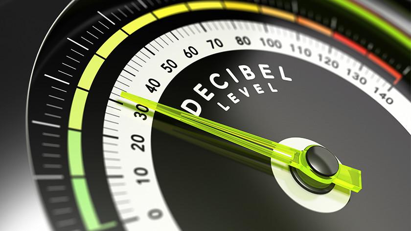 Noise level of vacuums in decibels