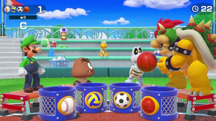Minigames spelen in Mario Party