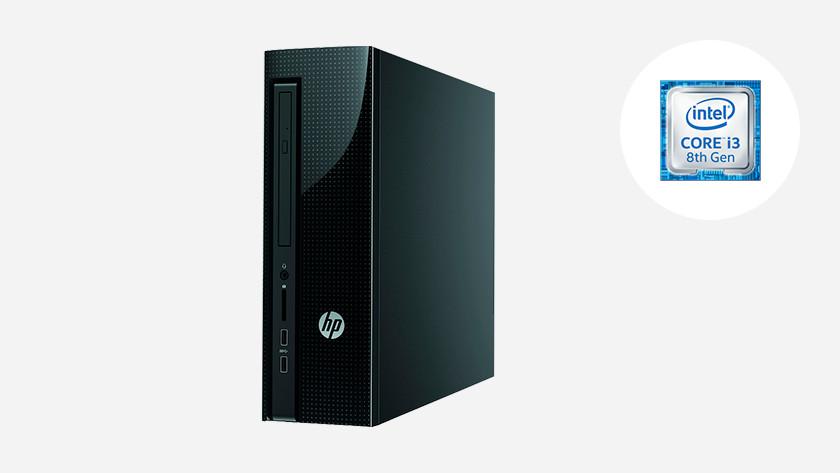 HP desktop pc met Intel Core i3 icoon.