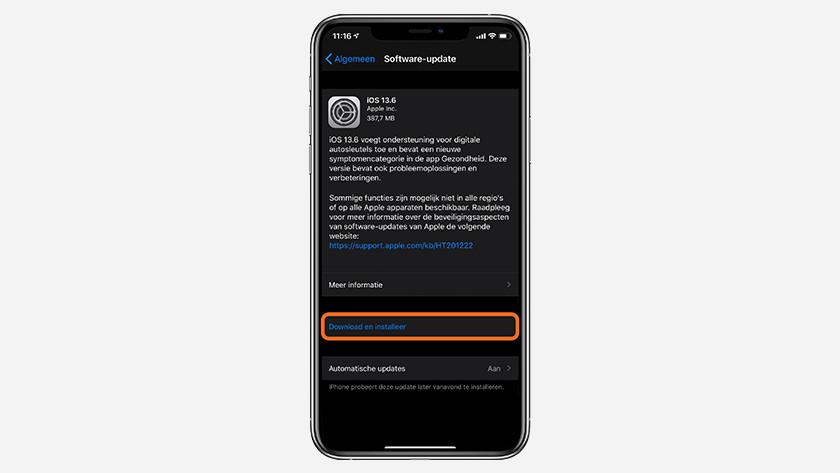 Tik op 'Download en installeer'