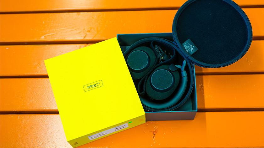 Headphones in box