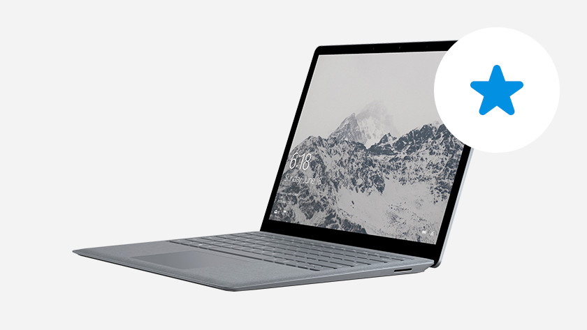 Surface laptop with 1 star.
