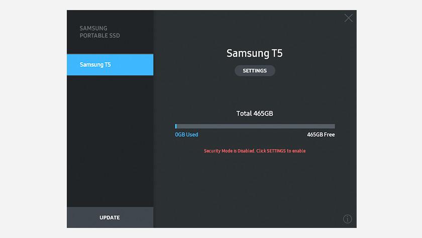 Samsung T5 backup