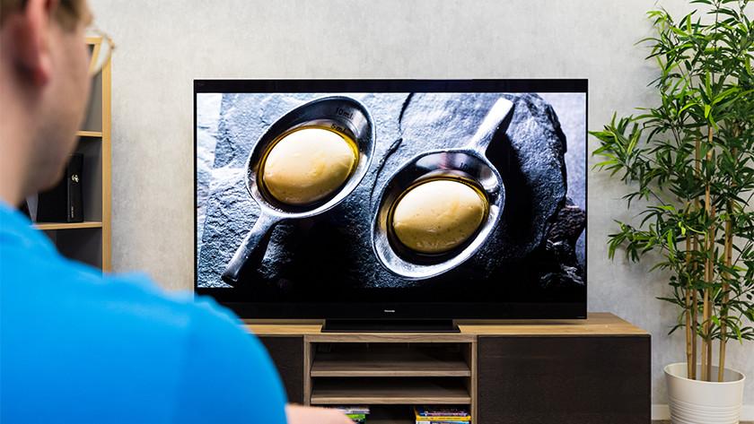 Contrast en zwartwaarden van de Panasonic HZW2004 OLED tv