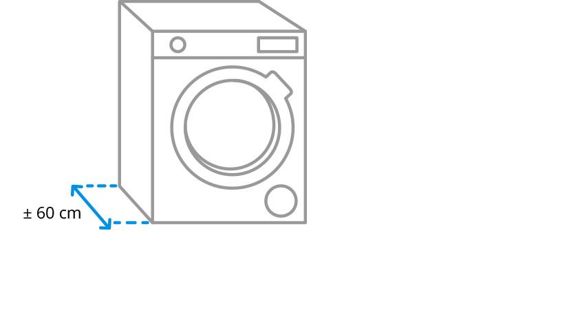 Diepte wasmachine