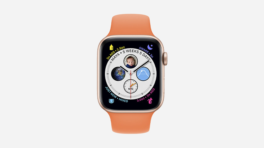 You can now use apps like Glow Baby on your watch face, so you always have insight into your most important apps.