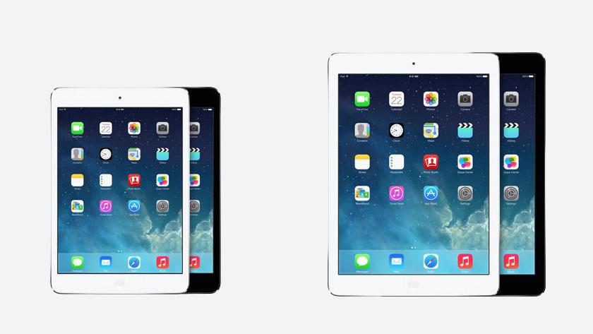 iPad Air 2 vergelijking iPad Mini 3