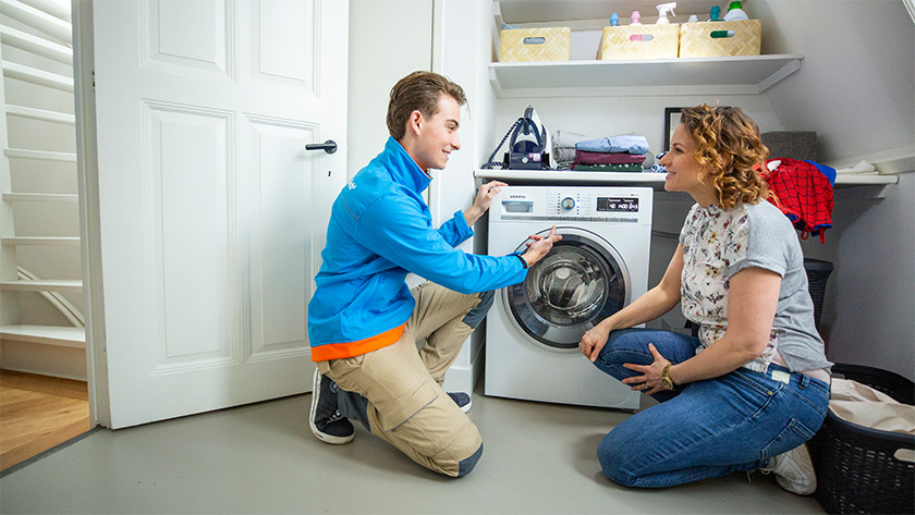 Wasmachine storing