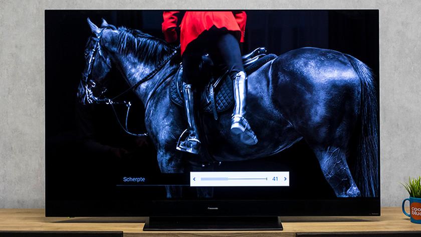 Set sharpness TV