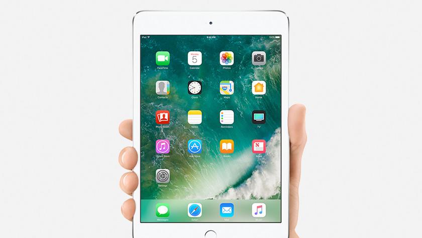 Apple iPad Mini past in een hand