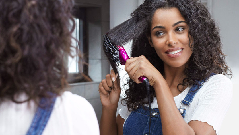 Straightening curly or coarse hair