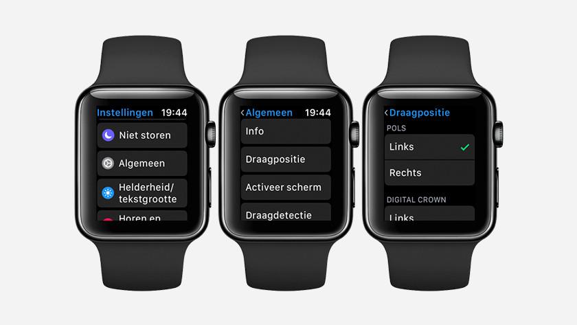 Change wearing position via Apple Watch