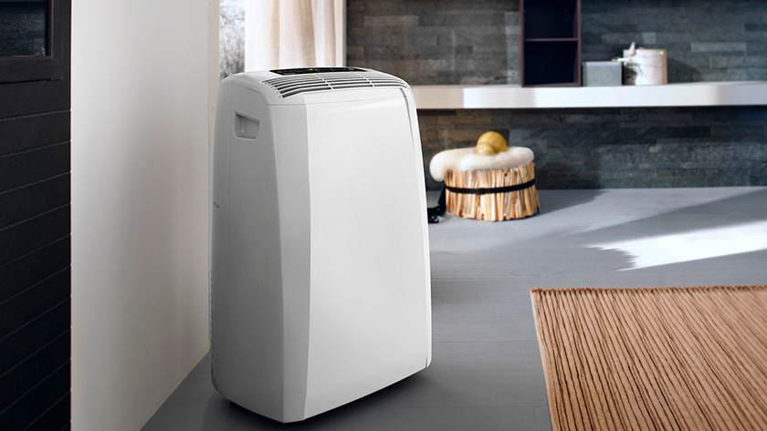 Portable air conditioner near a window