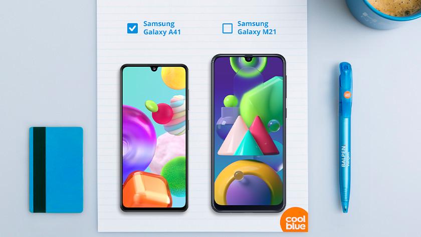 Samsung A41 vs Samsung M21 size