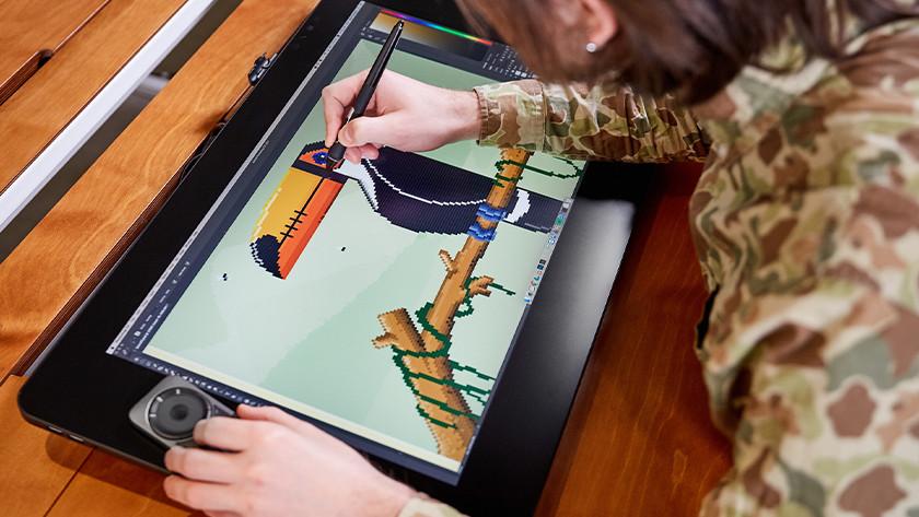 Tekenen op tekentablet