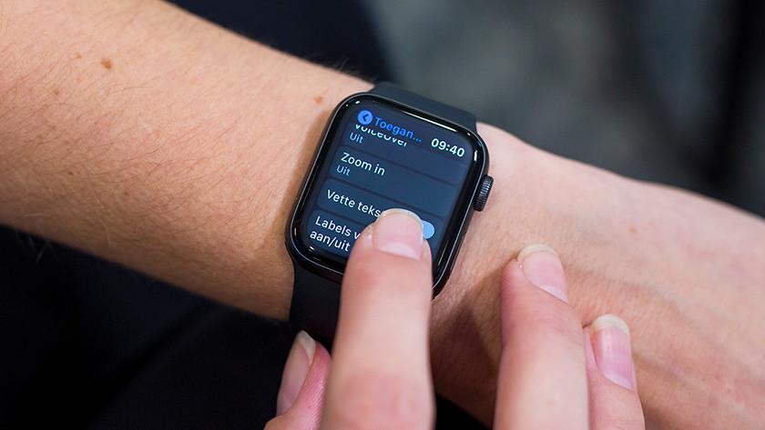 Apple Watch inzoomen aanzetten