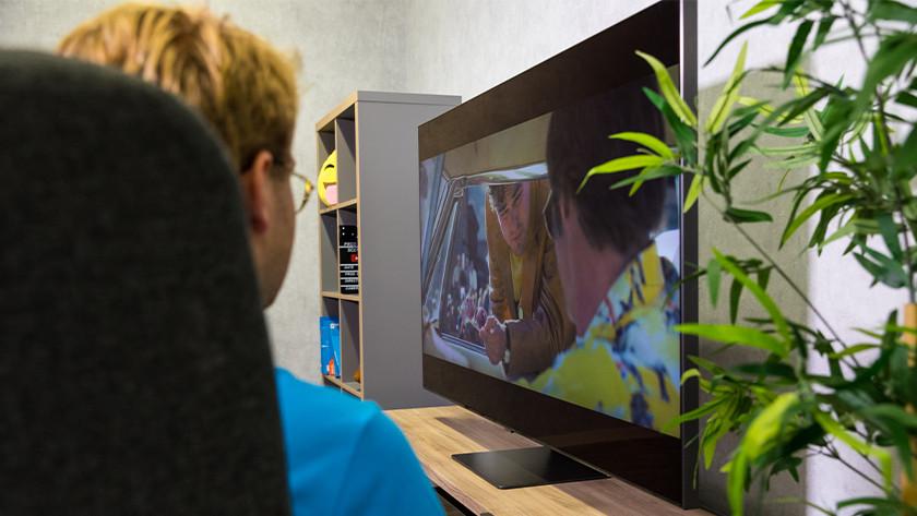 Kijkhoek en reflecties van de Samsung Q95T QLED tv