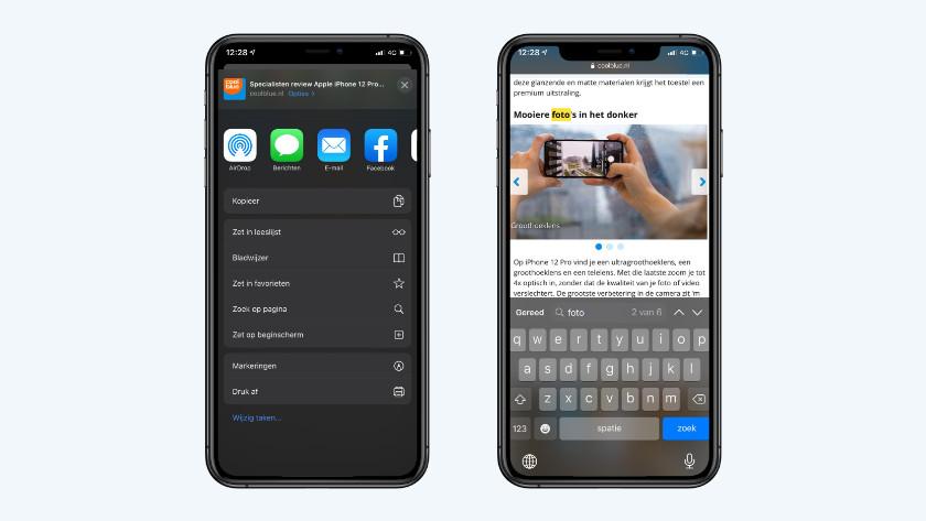 iPhone zoekfunctie Safari