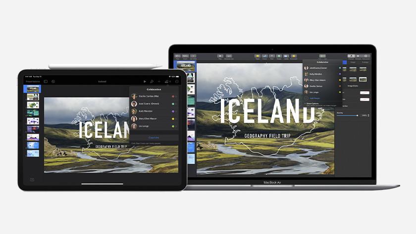 Apple Keynote op iPad en MacBook