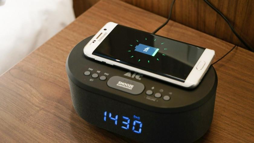 Smartphone opladen wekker