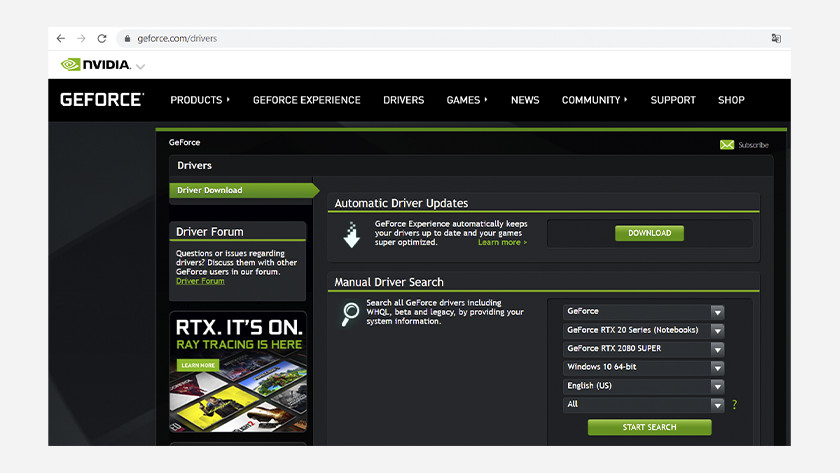 Download nvidia geforce driver