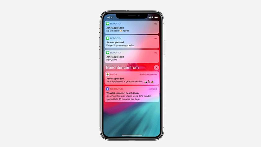 iOS 12 meldingen