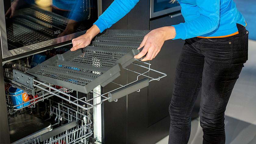 Removable cutlery tray AEG dishwasher