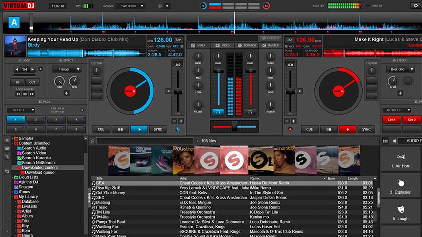 Virtual DJ software