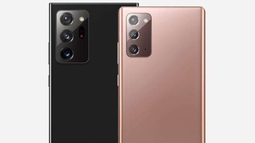 Vergelijking Samsung Note 20