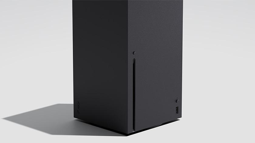 Schijflade van de Xbox Series X voor het spelen van fysieke Xbox One games.