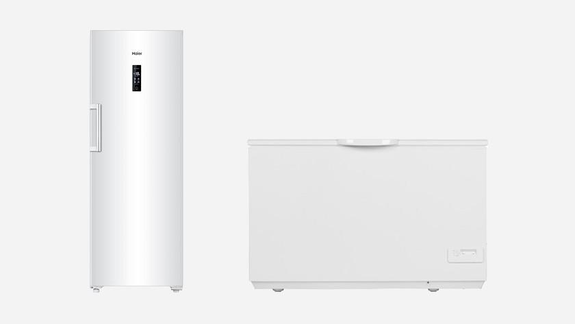 Upright freezer and chest freezer