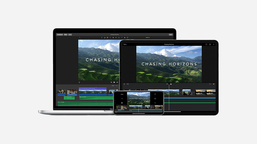 Apple iMovie op MacBook, iPhone & iPad